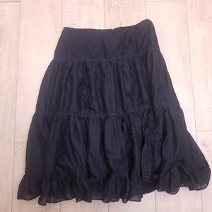 LAUREN JEANS CO Midi Skirt 16 Black
